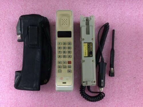 Vintage Motorola Cellular One Brick Mobile Phone w/ Case + Car Charger | PH45