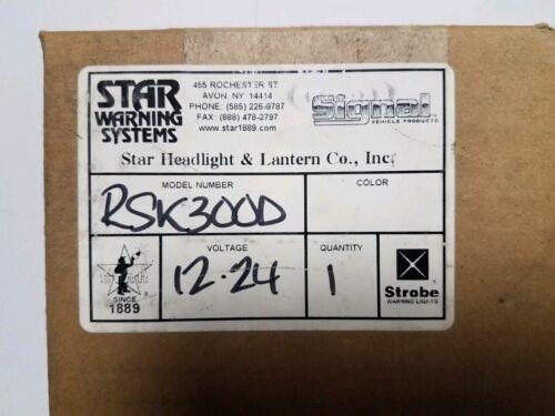 Star Warning Systems RP300D, RSK300D, RP310D Strobe Light Ki