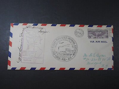 1931 Via Air Mail First Flight Twin Cities Pembina Route Envelope Cover Stamps