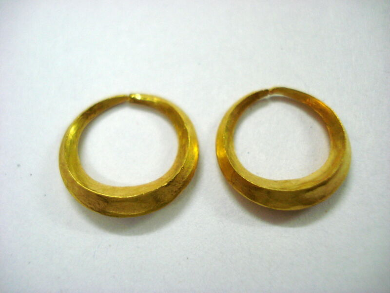 Vintage Antique 24kt gold earrings solid gold earrings unisex gold jewellery