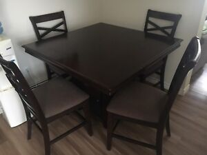 Ashley Furniture Pub Style Dining Table + 4 Chairs