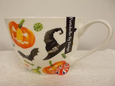 New Portobello By Design Happy Halloween Jack O Lanterns Coffee Tea Cup Mug - Halloween Jack O'lanterns Designs