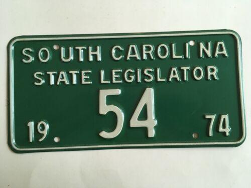 1974 South Carolina State Legislature License Plate Political Representative