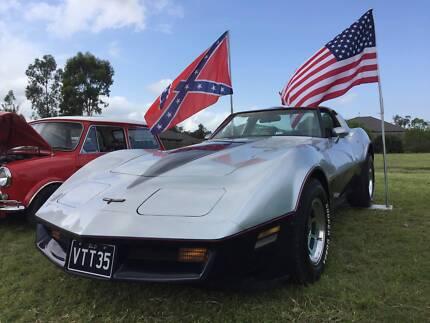 1981 Corvette C3  - Two Tone Silver/Blue