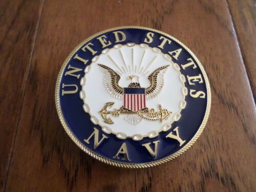U.S NAVY AUTOMOBILE GRILL BADGE ALL WEATHER EMBLEM AUTO HOME MEDALLION
