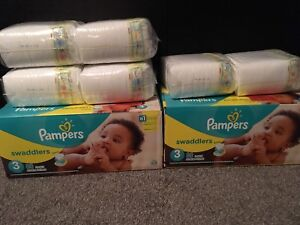308 Size 3 pampers Swaddlers
