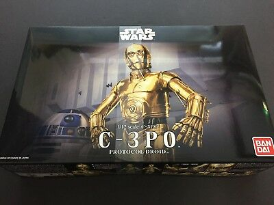 Bandai Star Wars 1/12 Scale C-3PO Plastic Model from Japan