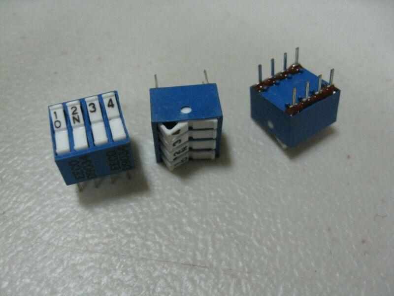 EECO 4 position switch Package: 8 Dip PCB mount 90qty