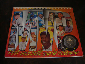 1991-Baseball-Cards-Calander-Photos-Of-MVP-039-s-9x11-Spiral