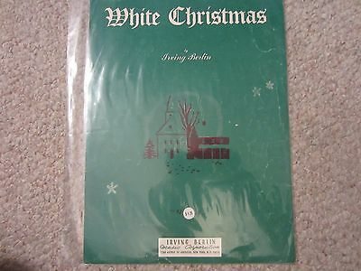 WHITE CHRISTMAS Irving Berlin Sheet Music Song Booklet 1942 FREE SHIPPING ()