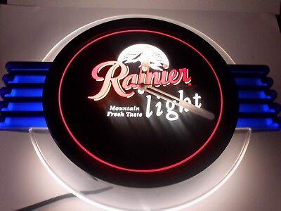 Rainer Beer Clock Lighted SN#711-Ranier