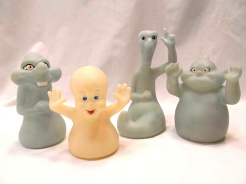 Casper The Ghost Pizza Hut 1995 Hand Puppets Halloween Stretch Fatso Stinkie 4pc