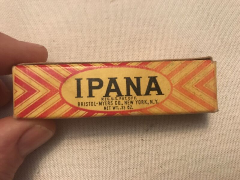 1950's IPANA TOOTH PASTE Vintage Tube In Original Box, Bristol Myers
