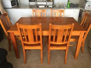 Timber dining table and chairs Lyneham North Canberra Preview
