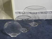 Brand New Glass Fish Vase Bowls Unique Shape Matching Set of 3 Forrestdale Armadale Area Preview