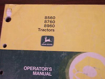 John Deere Tractor Operators Manual 856087608960 Tractors A9