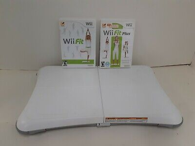 Wii Fit Plus with Balance Board Nintendo Wii Work Out Exercise Game Balance Yoga