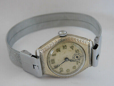 orologio in argento funziona FOREIGN Vintage silver watch working