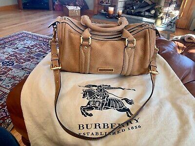burberry handbag Speedy authentic used Twice Camel Suede w Tags Orginal 1195$