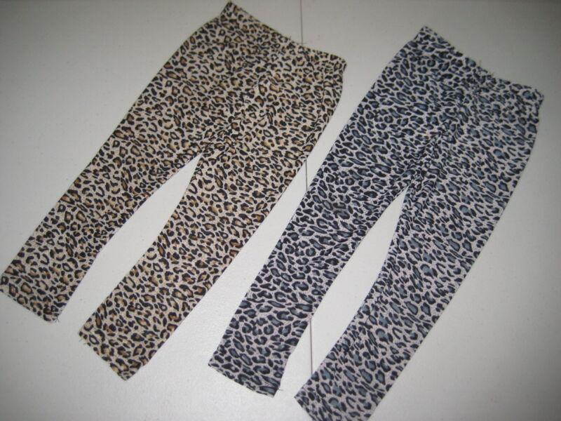 Animal Print Leopard Ankle Leggings Silky Super Soft Size 2T-6 Brown Black