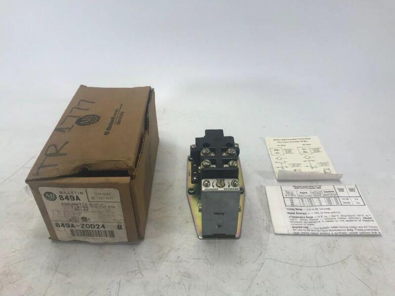 Allen Bradley 849A-ZOD24 Series B Pneumatic Time Delay Relay 849AZOD24