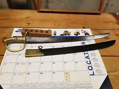 Model 1818 Dutch Infantry Short Sword W Rare Marks & Scabbard Rare Short Sword