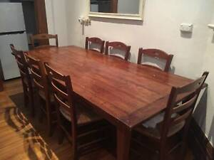 Reclaimed Timber Dinning Table & 8 Chairs