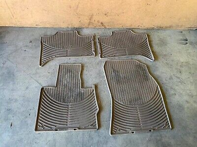 BMW 00-06 E53 X5 FRONT AND REAR ALL WEATHER FLOOR CARPET MATS BEIGE SET OEM 105K