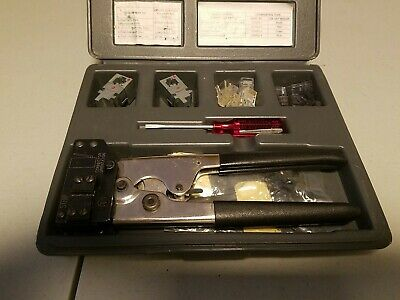 Amp Rj Crimper Kit For 46 And 8 Conductor