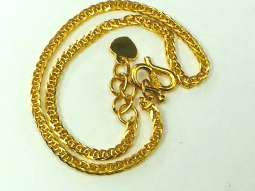 """999 24K足金 gold curb link bracelet with heart tag extension link 6 3/4"""" 2.8gm NEW"""