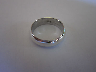 Sterling Silver Plain Wedding comfort Band ring 925 7mm size 12 men & women