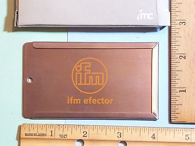 """BUSINESS CARD HOLDER STAINLESS STEEL IMF EFECTOR 2 ¼"""" x 4"""" IN BOX WITH CABLE 2"""""""
