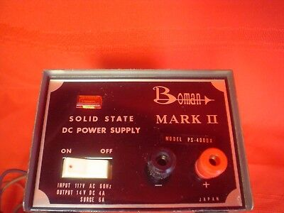 Vintage Working Boman Mark Ii Solid State Dc Power Supply Model Ps-400dx