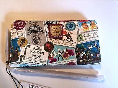 NWT GENUINE Dooney & Bourke DISNEY VACATION CLUB Wallet Wristlet CUTEST PATTERN!