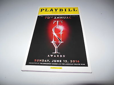 Playbill 70Th Annual Tony Awards June 12  2016 Over 160 Pgs