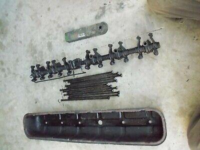 Oliver Super 77 Diesel Tractor 77d Engine Motor Rocker Arm Valve Cover Push Rods