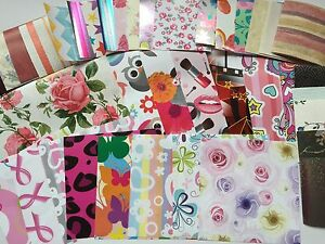 100 PATTERNED PAPER/S 5 Sizes Decoupage/Cards/Crafts Floral/Geometric/Mini/Kids