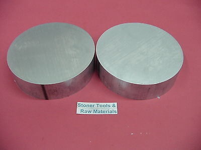 2 Pieces 4 Aluminum 6061 Round Bar Rod .75 Long New Extruded Lathe Solid Stock
