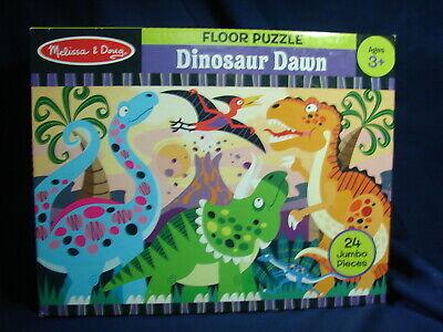 - Melissa and Doug Kids Jumbo 2 x 3' Jigsaw Floor Puzzle 24 Pc DINOSAUR DAWN