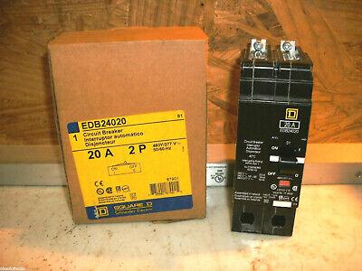 Square D Edb24020 Circuit Breaker 20a 2 Pole 277v -new In Factory Box