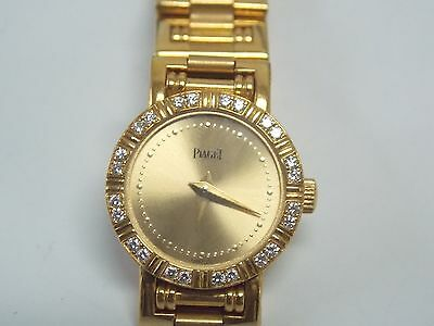Piaget Dancer 18K Yellow Gold with Factory Diamond Bezel Ladies Watch