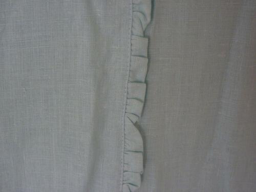 """Annette Tatum House Inc  Linen Duvet Cover 1/2"""" folded Ruffle Robin"""