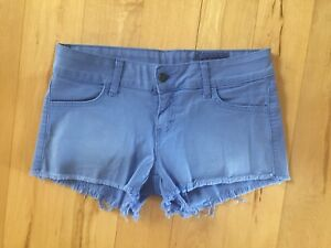 Siwy Camilla Denim Cut Off Shorts Periwinkle Blue Size 26 wash Never Forever