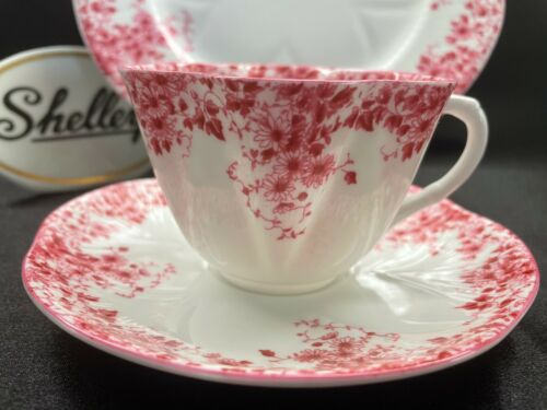 """SHELLEY DAINTY PINK DAISY    CUP,  SAUCER,  and   8"""" PLATE  WOW!"""