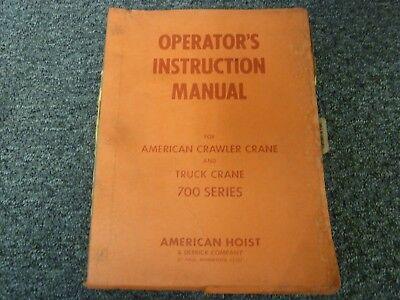 American 7530 Lattice Boom Truck Mount Crane Owner Operator Maintenance Manual