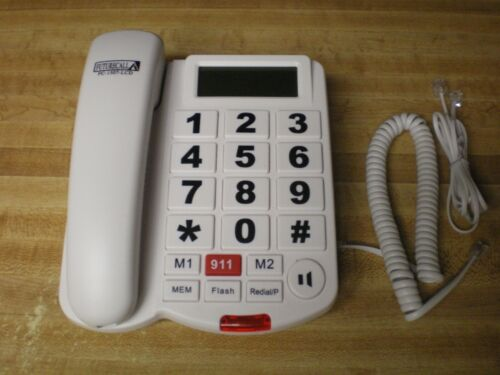 Big Button Corded Phone Amplified Hearing Caller ID Speakerphone FC-1507-LCD