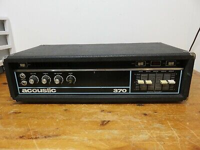 Vintage 1973 Acoustic 370 Bass Head Solid State Amplifier USA Jaco Pastorius Era