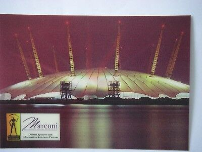 COLLECTABLE London Postcard MILLENNIUM DOME VOTE! MARCONI  New PRISTINE Official