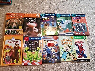 Lot of 10 Level 1 2 I can read picture books dory spiderman paw patrol animal