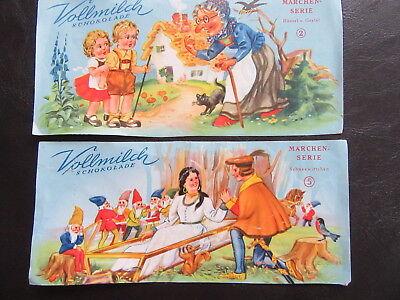 DDR-Vollmilch-Schokoladenpapier-Märchenserie-Schneewittchen-Hänsel&Gretel